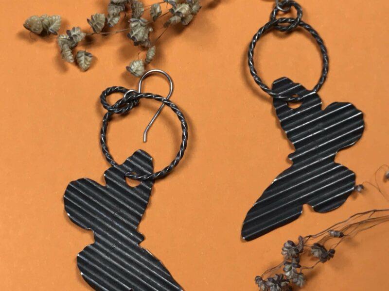 Aaron Brokeshoulder (Shawnee, Choctaw, Kewa) – Schmetterlings-Ohrhänger