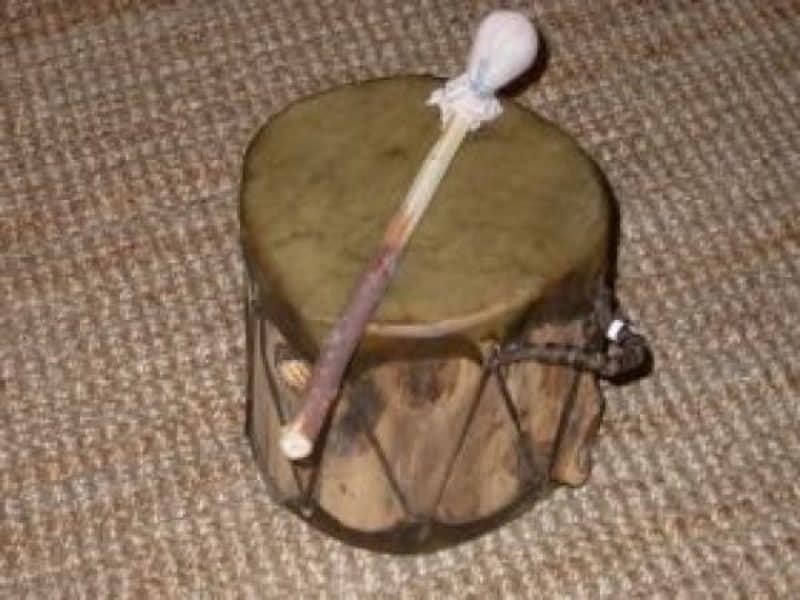 Indianer, Basel, Schweiz, Trommel, Indianertrommel, Cochiti-Trommel, doppelseitig bespannt, kleine Cochiti-Trommel (doppelseitig bespannt), Indianer - Schmuck und Kunsthandwerk - prairie wind