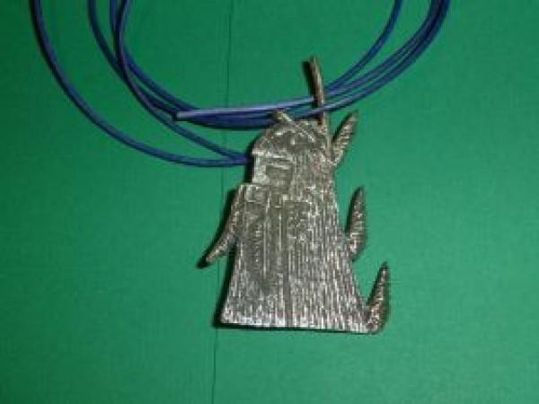 Antone Honanie (Hopi) - Longhair Kachina-Anhänger oder Brosche