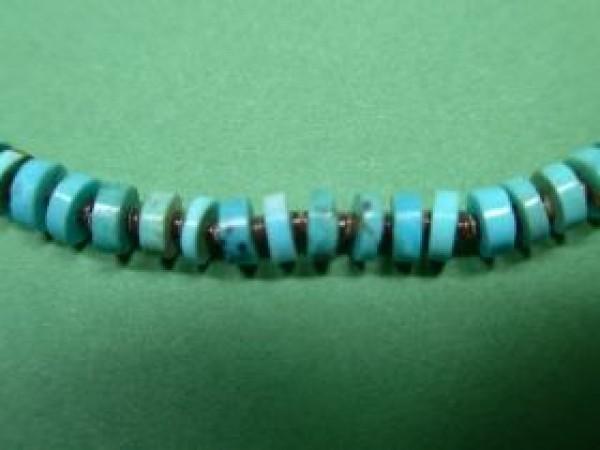 Lenore Owen Cheykaychi (Kewa-Hopi) - blaue Türkiskette
