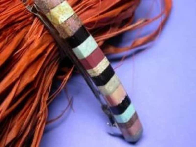 , Paul Coriz (Kewa) – lange Haarspange, Indianer - Schmuck und Kunsthandwerk - prairie wind